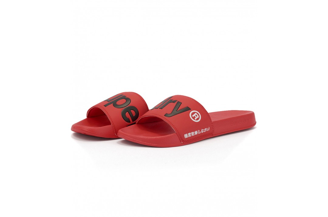 SUPERDRY CLASSIC POOL SLIDE MF310008A-OMG Κόκκινο