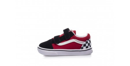 VANS OLD SKOOL V CHECKERBOARD COMFYCUSH VA4TZI35U-35U Κόκκινο