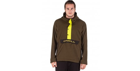 O'NEILL ORIGINAL HALF ZIP HOODED SKI FLEECE 9P0214-6058 Χακί