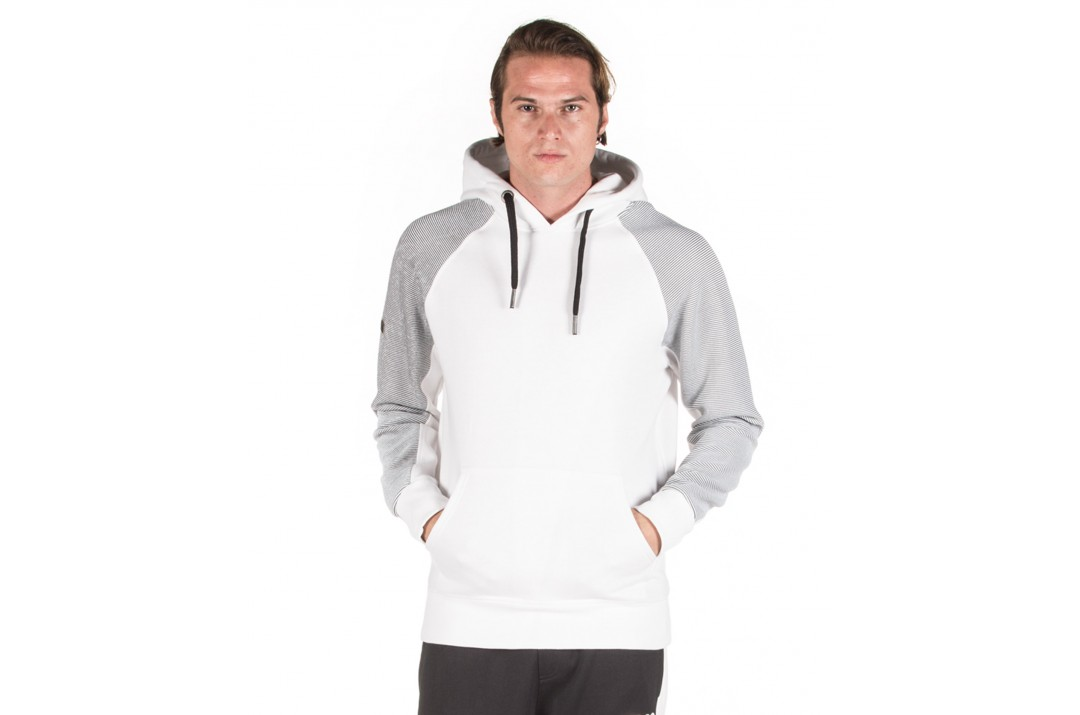 BODY ACTION GYM HOODIE 063922-01-02 Λευκό