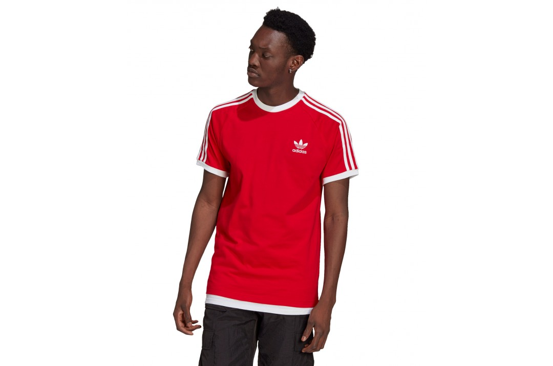 adidas Originals 3-STRIPES T-SHIRT GN3502 Κόκκινο