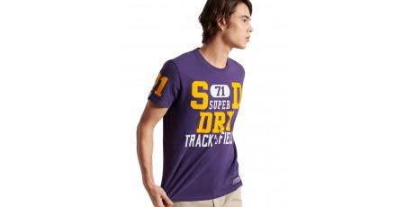SUPERDRY TRACK AND FIELD GRAPHIC TEE M1010846A-NOA Μωβ