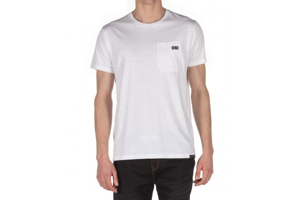 DISTRICT75 MEN'S POCKET TEE 120MSS-668-091 Λευκό