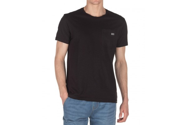 DISTRICT75 MEN'S POCKET TEE 120MSS-668-071 Μαύρο