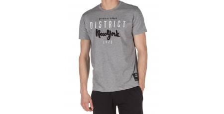 DISTRICT75 MEN'S TEE 120MSS-673 Γκρί