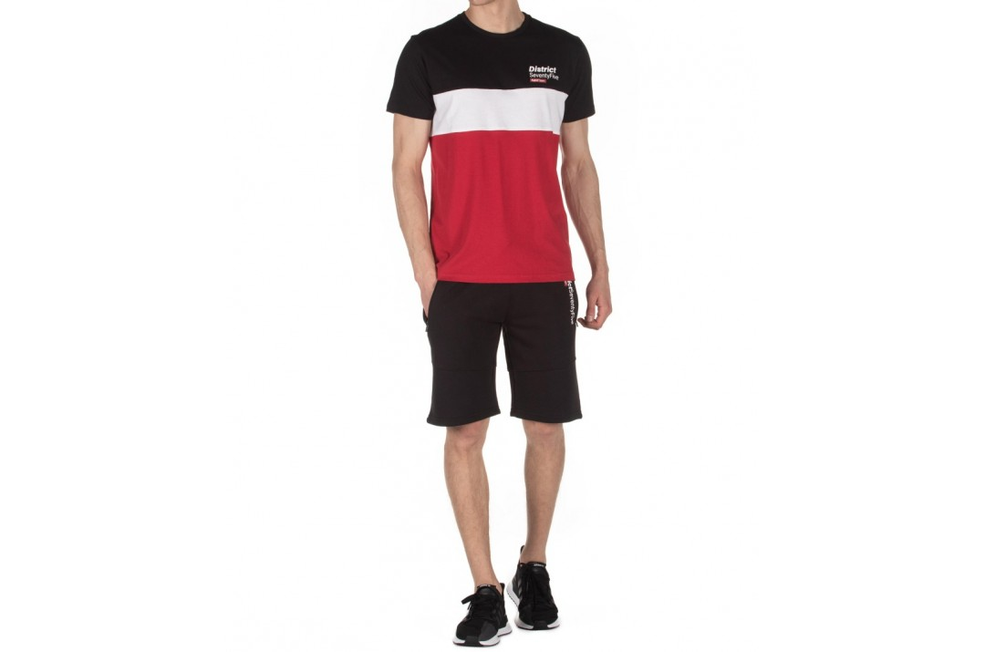 DISTRICT75 MEN'S COLORBLOCK TEE 120MSS-760 Κόκκινο