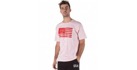 GSA SUPERLOGO T-SHIRTCOLOR EDITION 17-19035-PINK FLAG ΡΟΖ