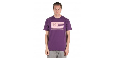 GSA SUPERLOGO T-SHIRTCOLOR EDITION 17-19039-PURPLE FLAG Μωβ