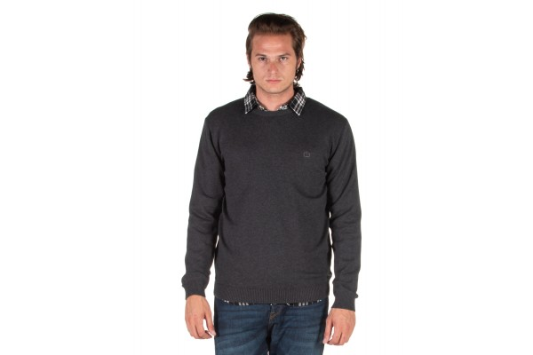 EMERSON COTTON KNITTED SWEATER 192.EM70.90-D.GREY ML Ανθρακί