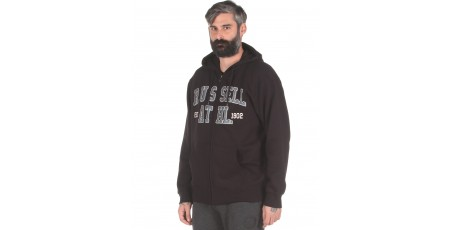 Russell Athletic 1902 - ZIP THROUGH HOODY A0-016-2-099 Μαύρο