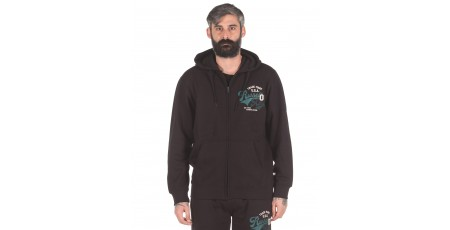Russell Athletic TRADE MARK USA - ZIP THROUGH HOODY A0-027-2-099 Μαύρο