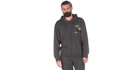 Russell Athletic TRADE MARK USA - ZIP THROUGH HOODY A0-027-2-098 Ανθρακί