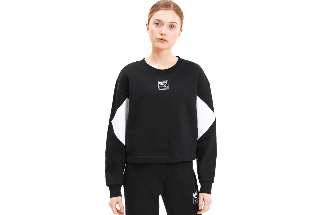 PUMA REBEL CREW FL 583560-01 Μαύρο