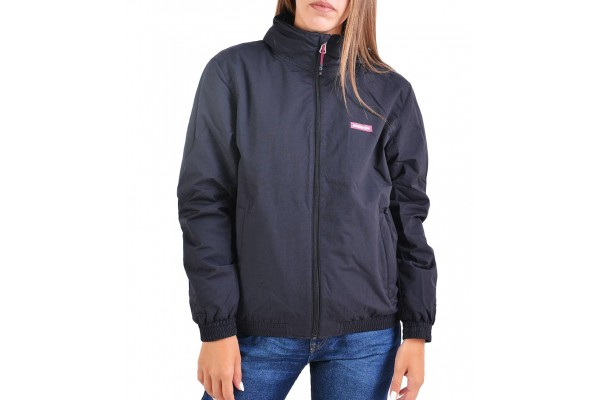 EMERSON ROLL-IN HOODED BOMBER JACKET 192.EW10.88-DOBBY BLACK Μαύρο