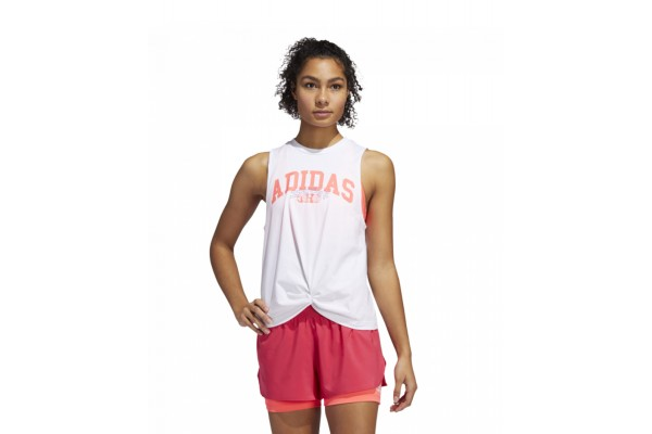 adidas Performance GRAPHIC TANK TOP GE0291 Λευκό