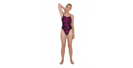 SPEEDO COLOURVIBE ALLOVER TURNBACK 8-11716D763 Μαύρο