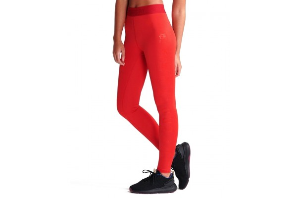 SUPERDRY SPORT TRAINING ELASTIC LEGGING WS310627A-RXG Κόκκινο