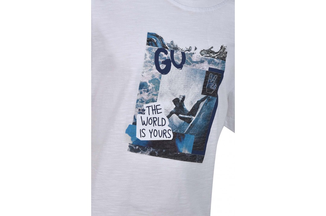 "BODYTALK ""THE WORLD IS YOURS"" BOYS' TEE 1191-751128-00200 Λευκό"