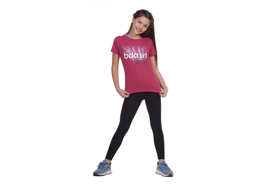 BODY ACTION GIRLS SHORT SLEEVE T-SHIRT 052101-01-12B Ροζ