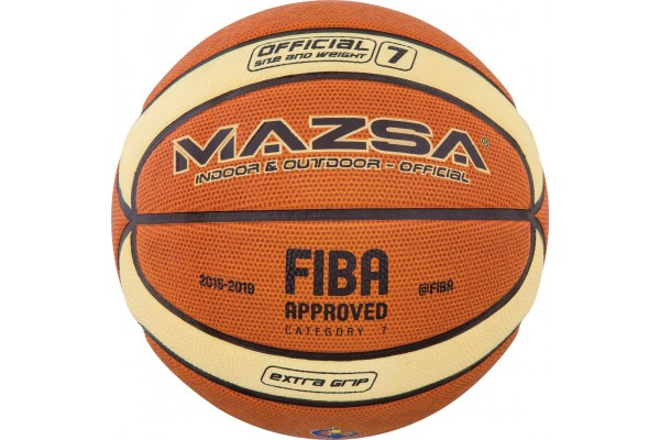 AMILA ΜΠΑΛΑ BASKET MAZSA #7 CELLULAR RUBBER - FIBA APPR. 41510-26 Πορτοκαλί