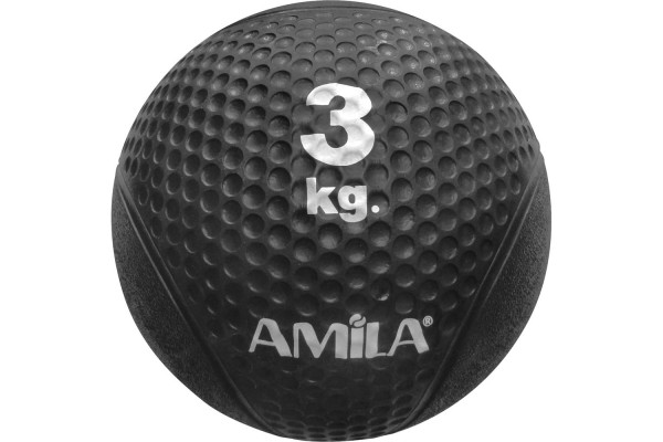 AMILA SOFT TOUCH MEDICINE BALL 3KG 94605 Μαύρο