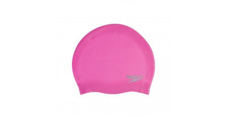SPEEDO PLAIN MOULDED SILICONE CAP 8-709845641 Φούξια