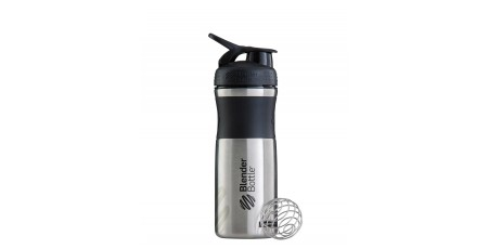 BLENDER BOTTLE 820ML SPORTMIXER STAINLESS Μαύρο