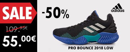 adidas Performance PRO BOUNCE 2018 LOW -50%