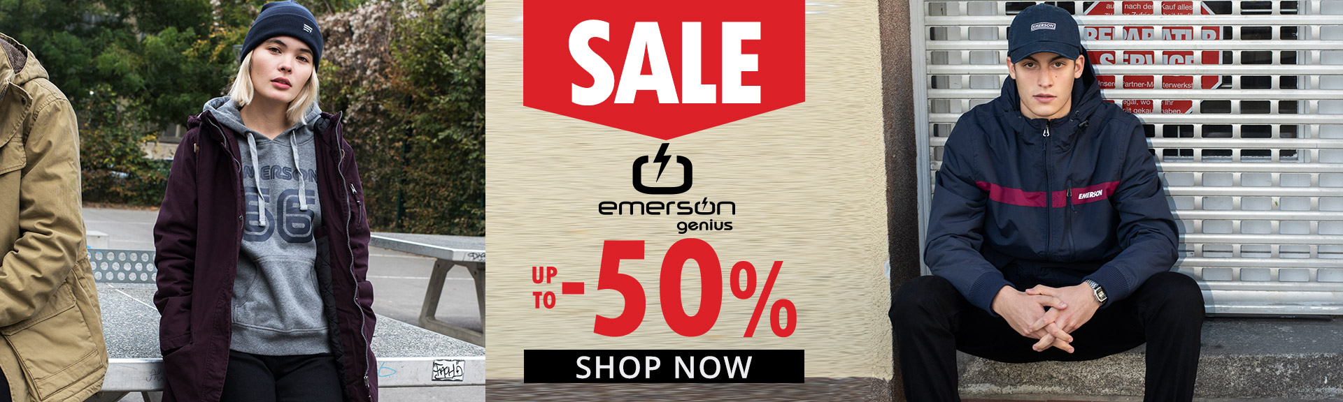 emerson up to 50%
