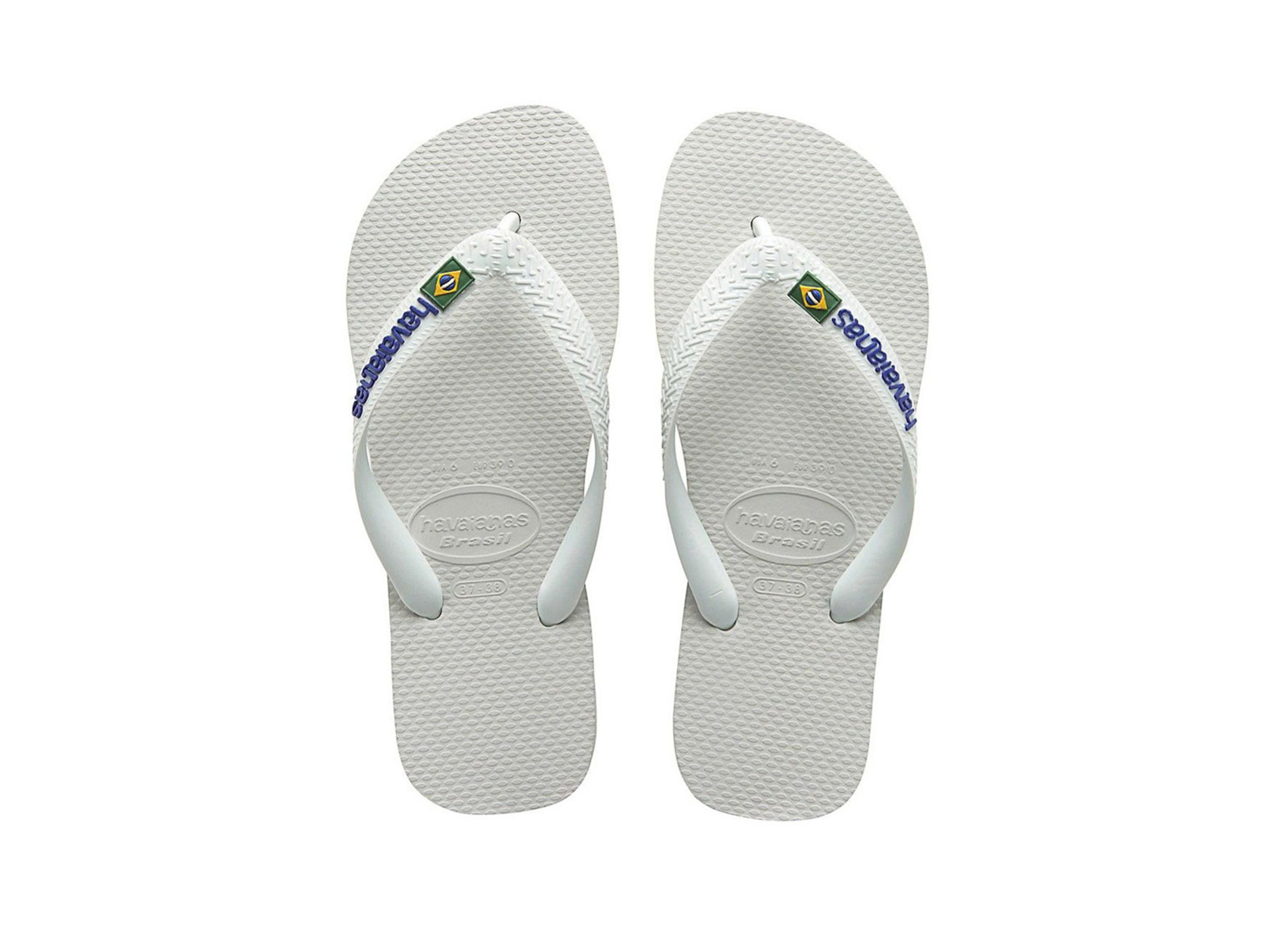 HAVAIANAS BRASIL LOGO 4110850-0001 Λευκό