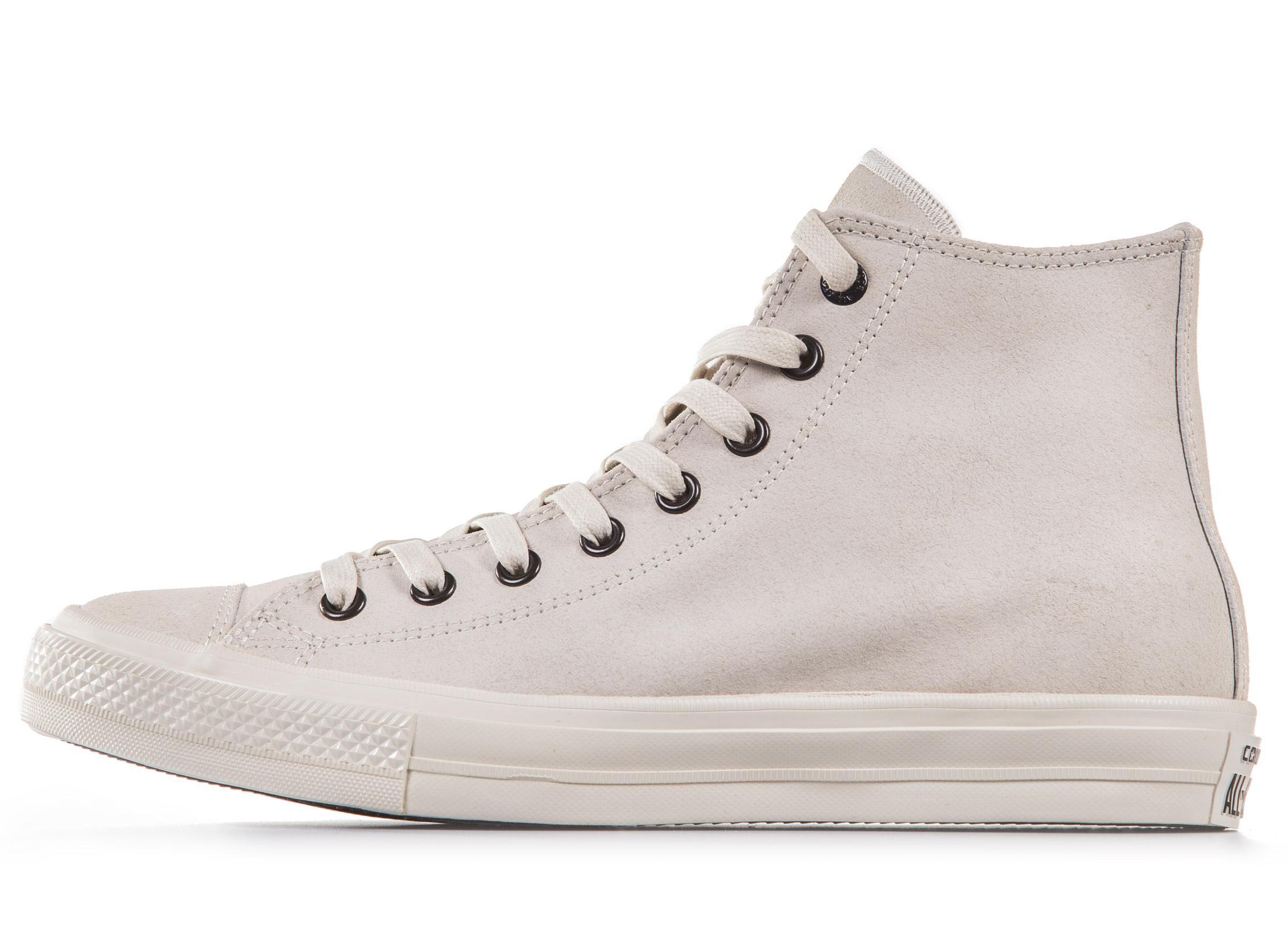 Converse x John Varvatos Chuck II Coated Leather High Top 153890C Εκρού