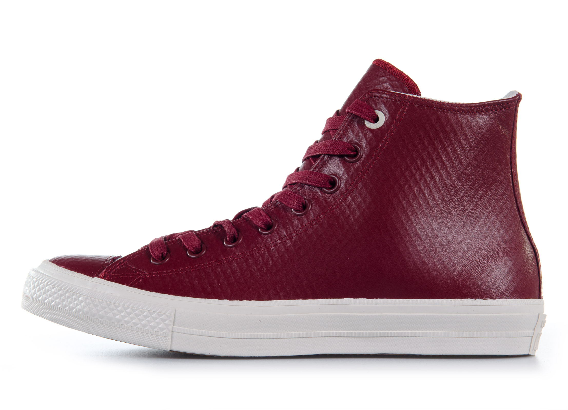 Converse All Star Chuck II Mesh Backed Leather High Top 153553C Μπορντό