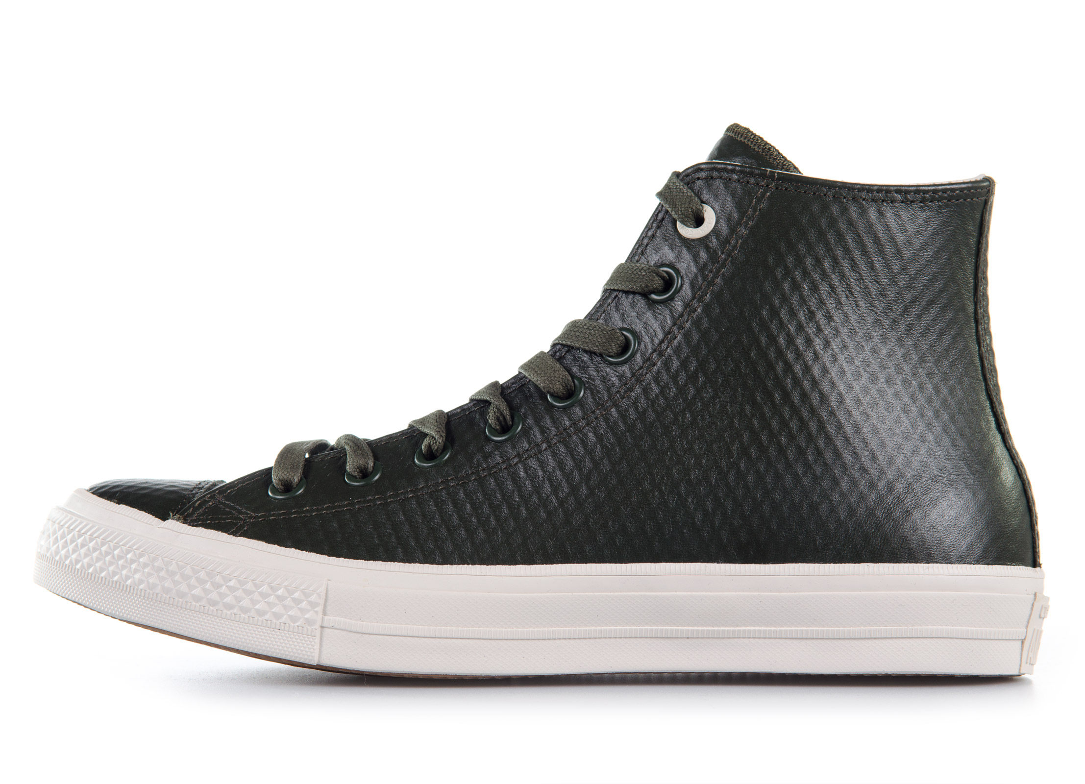 Converse All Star Chuck II Mesh Backed Leather High Top 153554C Χακί