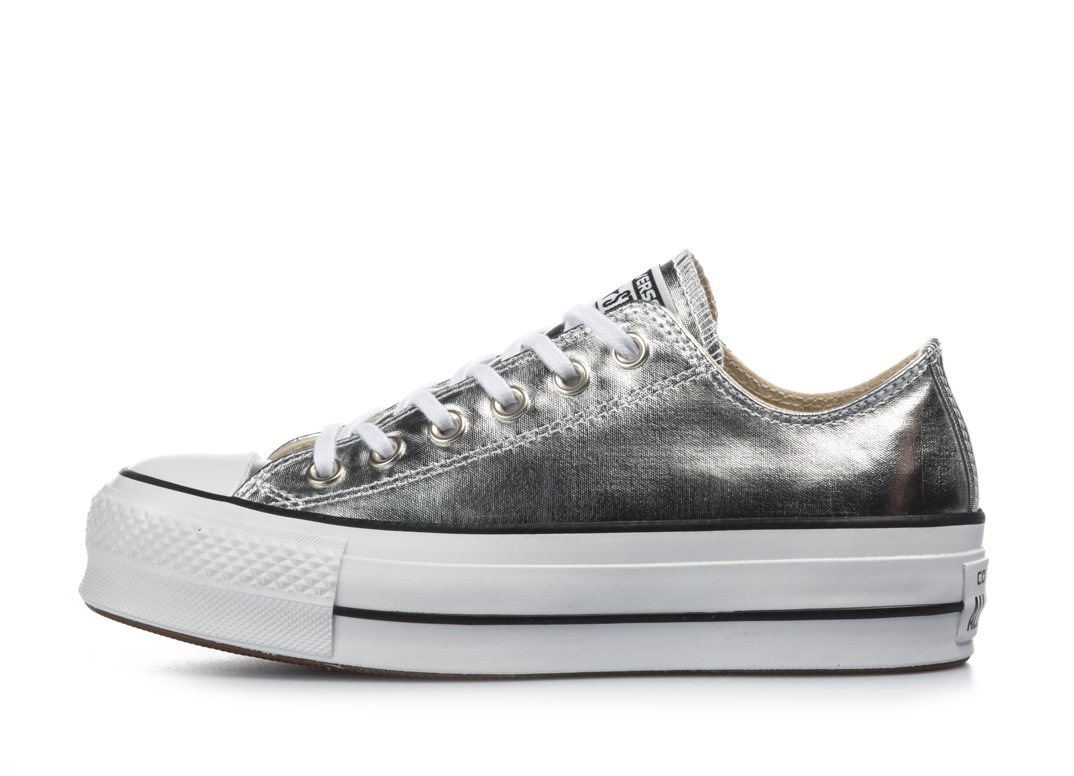 Converse Chuck Taylor All Star Lift Ox 560248C Ασημί γυναικα   υποδήματα   μόδας