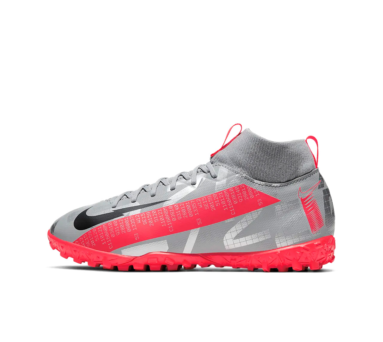 NIKE JR. MERCURIAL SUPERFLY 7 ACADEMY TF AT8143-906 Ασημί