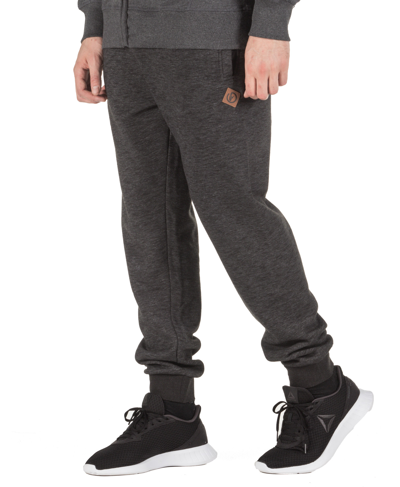 BODY ACTION SLIM FIT SWEAT PANTS 023944-01-01 Μαύρο