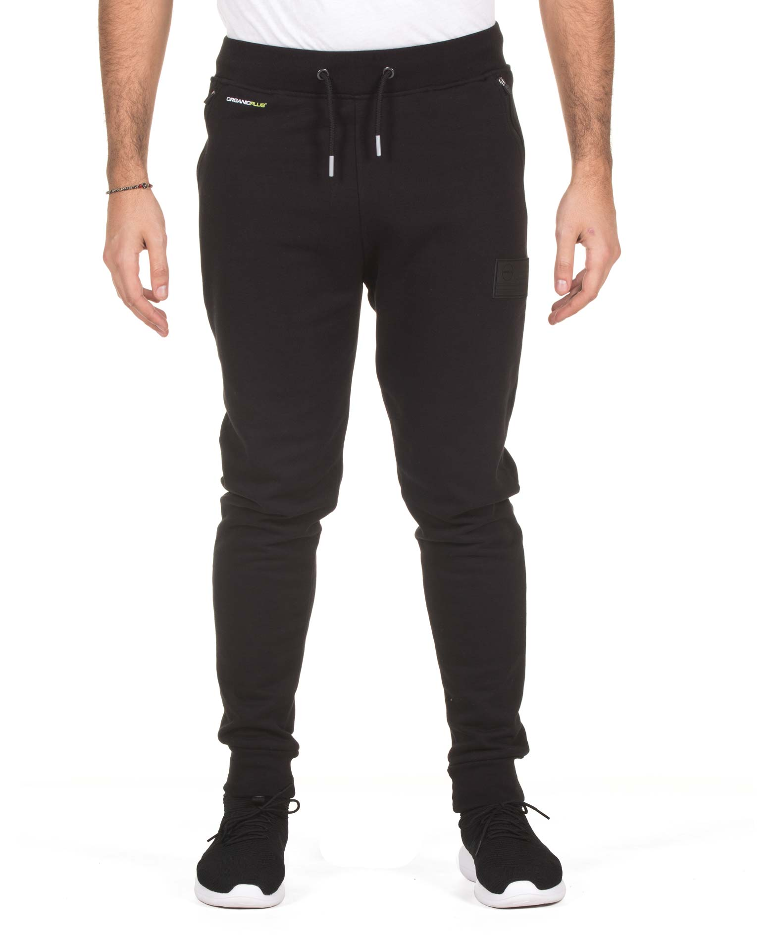 GSA SUPPERCOTTON PLUS SLIM SWEATPANTS 17-17023-01 JET BLACK Μαύρο