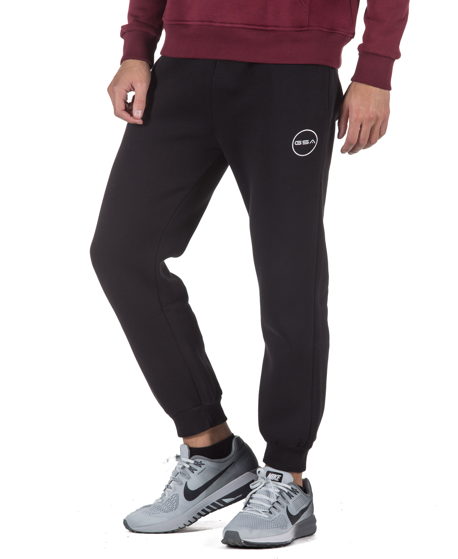 GSA SUPERCOTTON JOGGERS SWEATPANTS 17-17027-01 JET BLACK Μαύρο