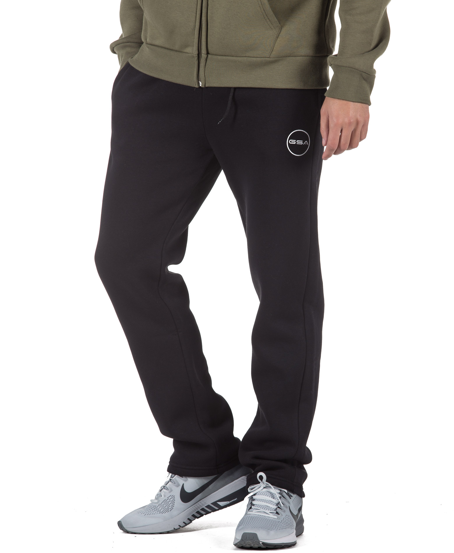 GSA SUPERCOTTON BOOTCUT SWEATPANTS 17-17028-01 JET BLACK Μαύρο