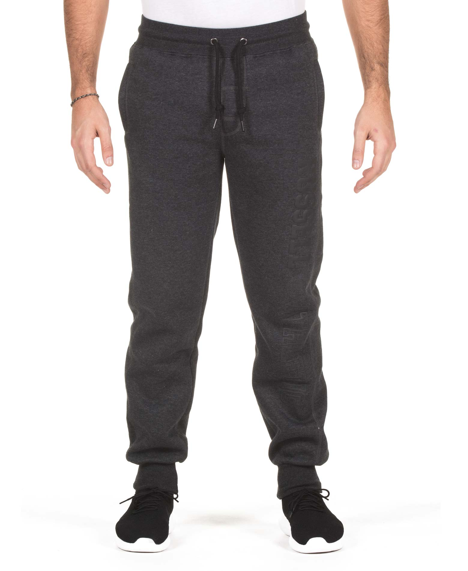 RUSSELL ATHLETIC COLLEGIATE CUFFED PANT A7-032-2-098 Ανθρακί ανδρας   ενδύματα   παντελόνια
