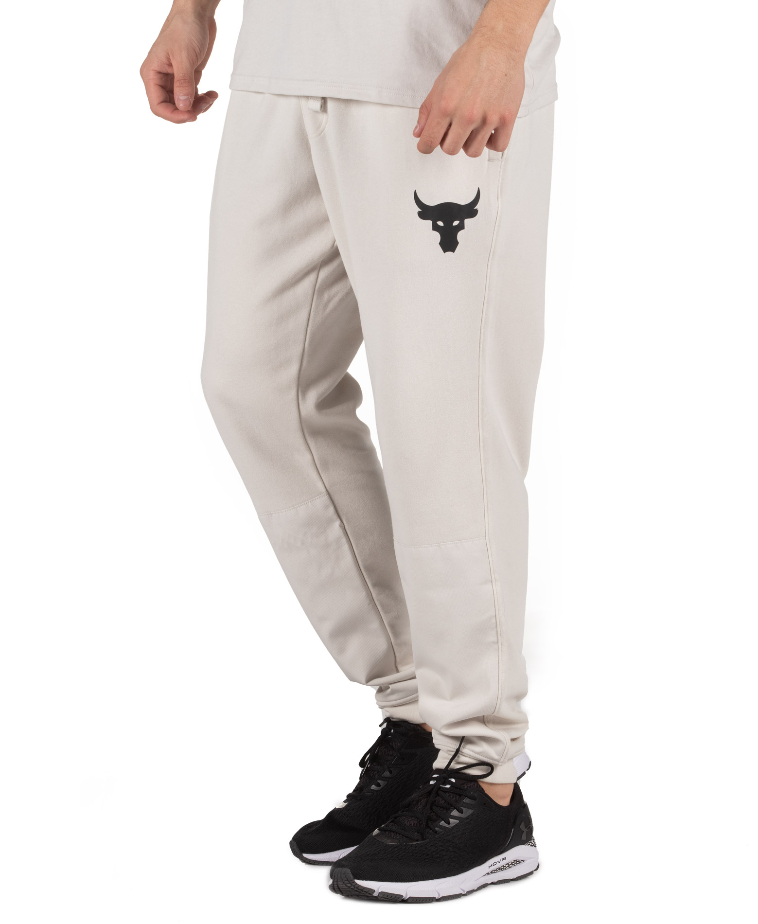 UNDER ARMOUR PROJECT ROCK TERRY JOGGERS 1355634-110 Λευκό