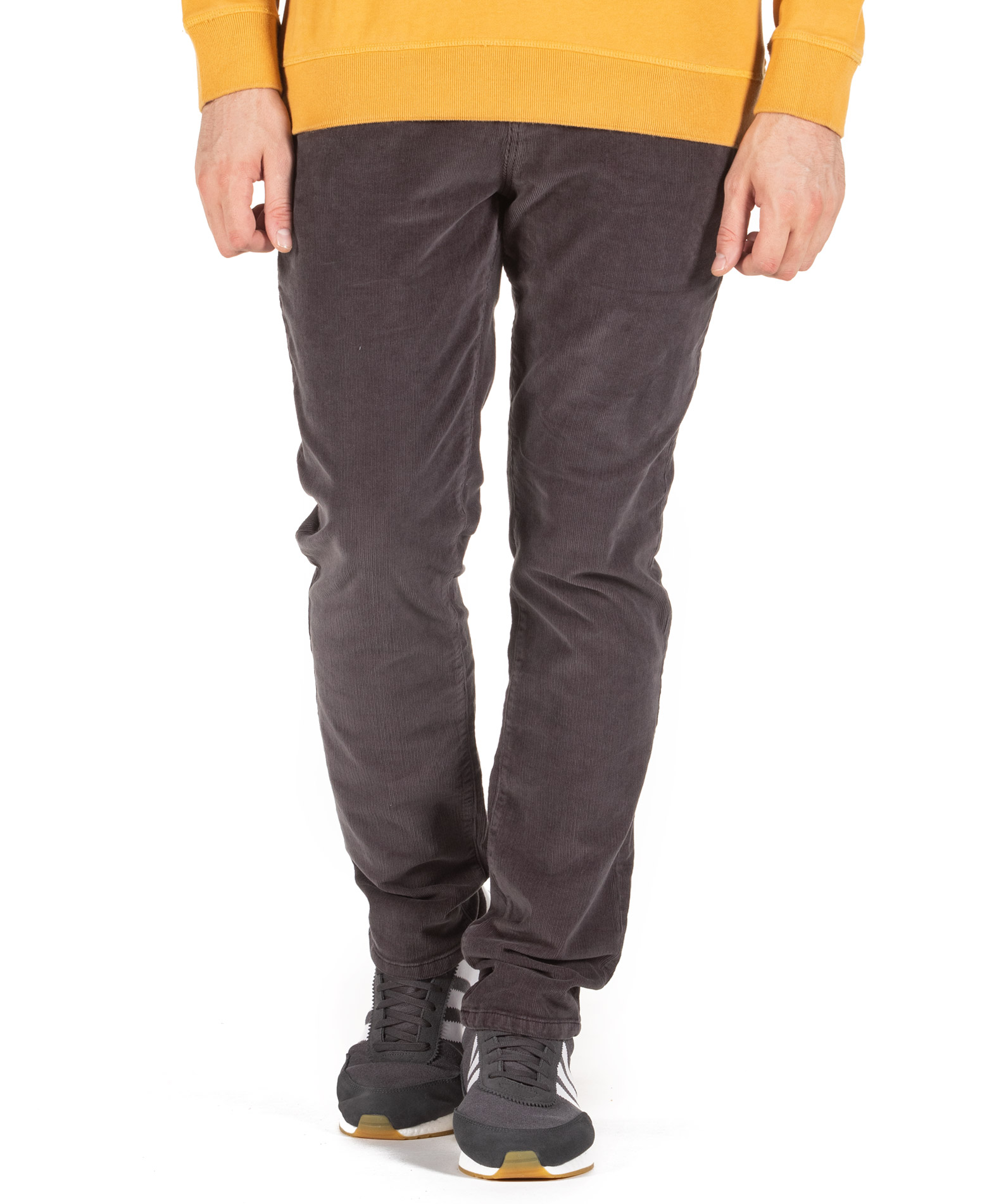 SUPERDRY SLIM TYLER CORD FIVE POCKET TROUSERS M7000021A-AFB Μαύρο
