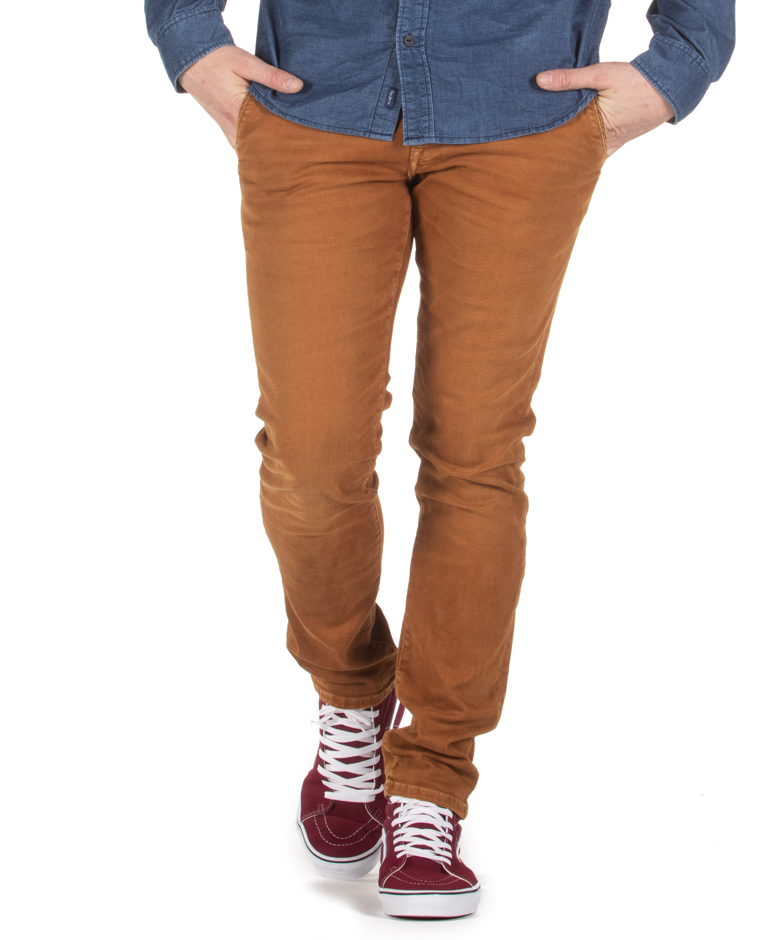 PEPE JEANS JAMES WASHED EFFECT TROUSERS PM210943YB22-142 Μουσταρδί