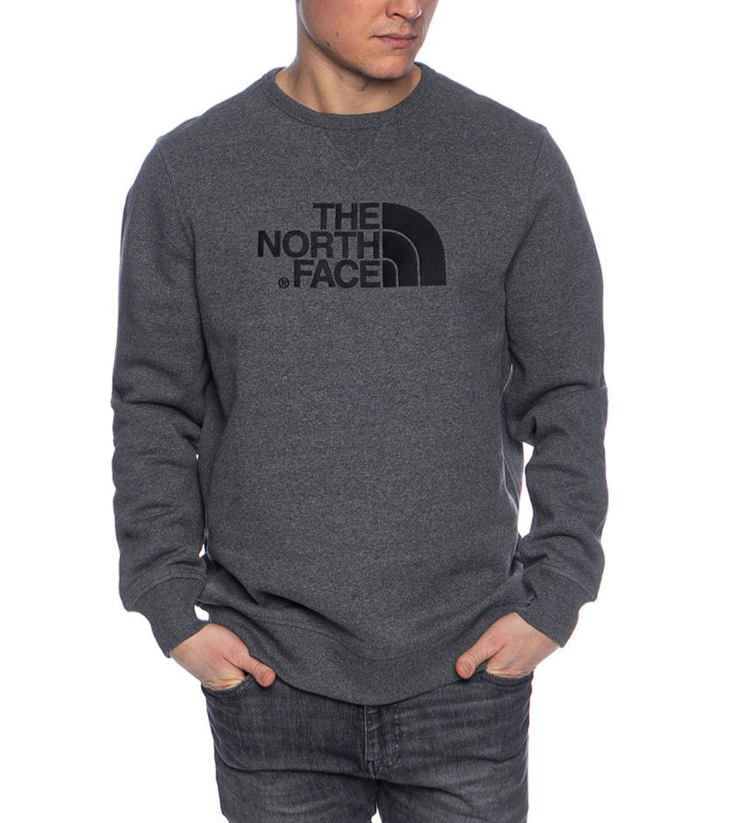 THE NORTH FACE M DREW PEAK CREW NFA4SVRGVD-GVD Ανθρακί