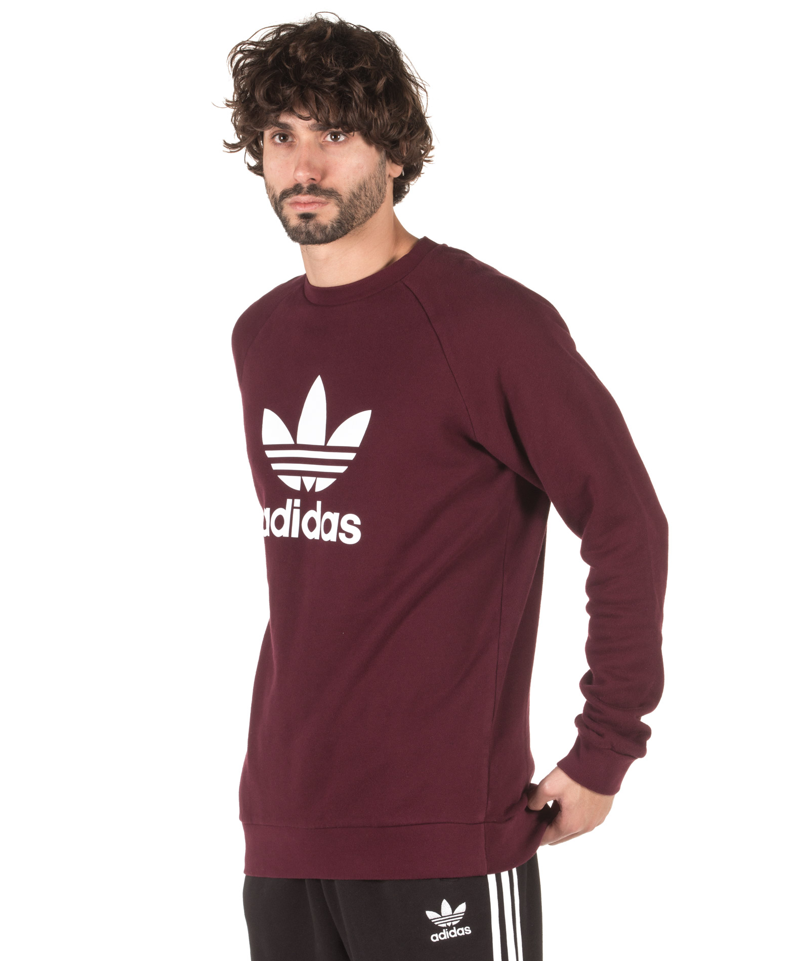 adidas Originals TREFOIL CREW DM7835 Μπορντό