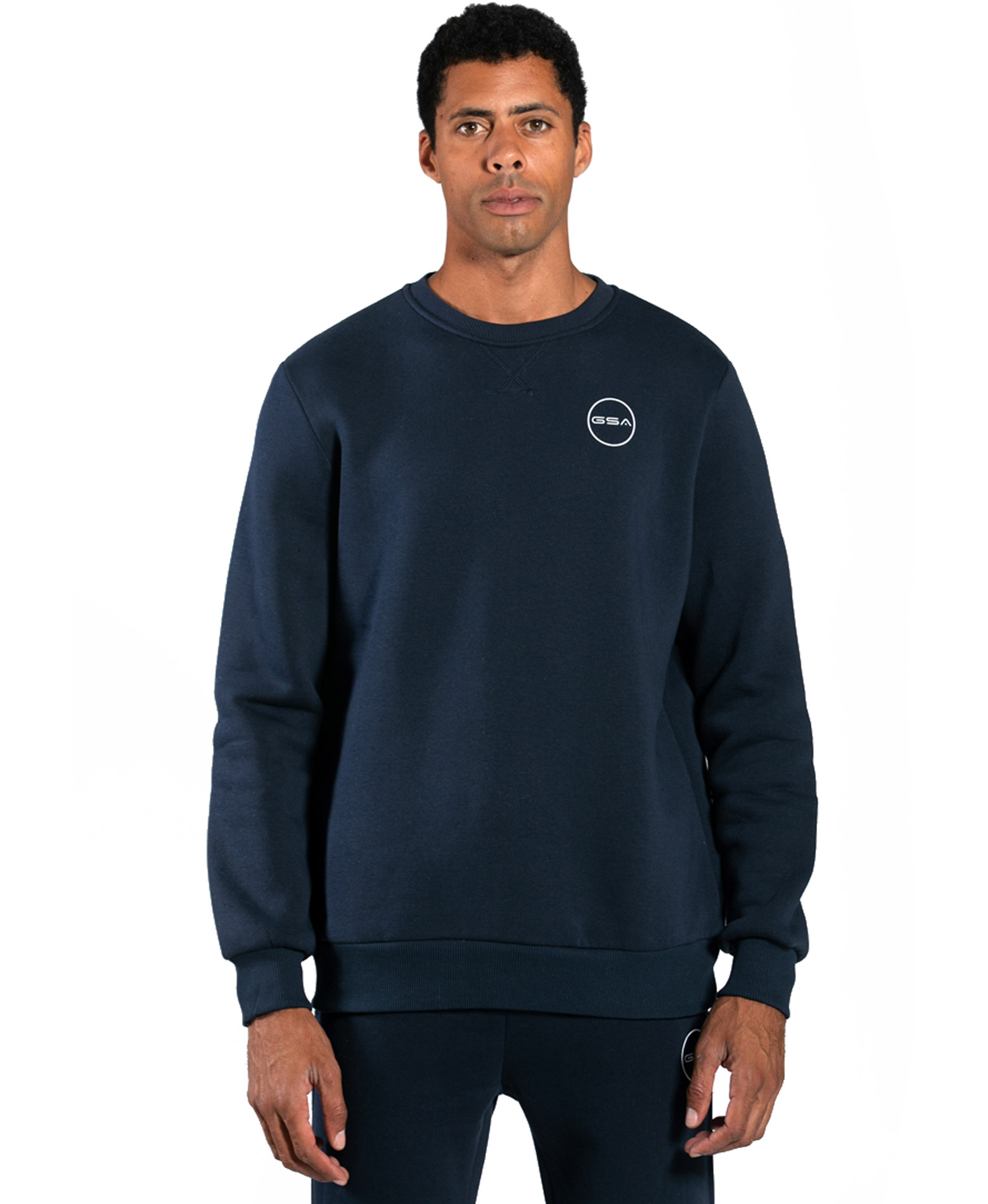 GSA SUPERCOTTON LONG SLEEVE CREW NECK 17-17025-03 BLUE MARINE Μπλε