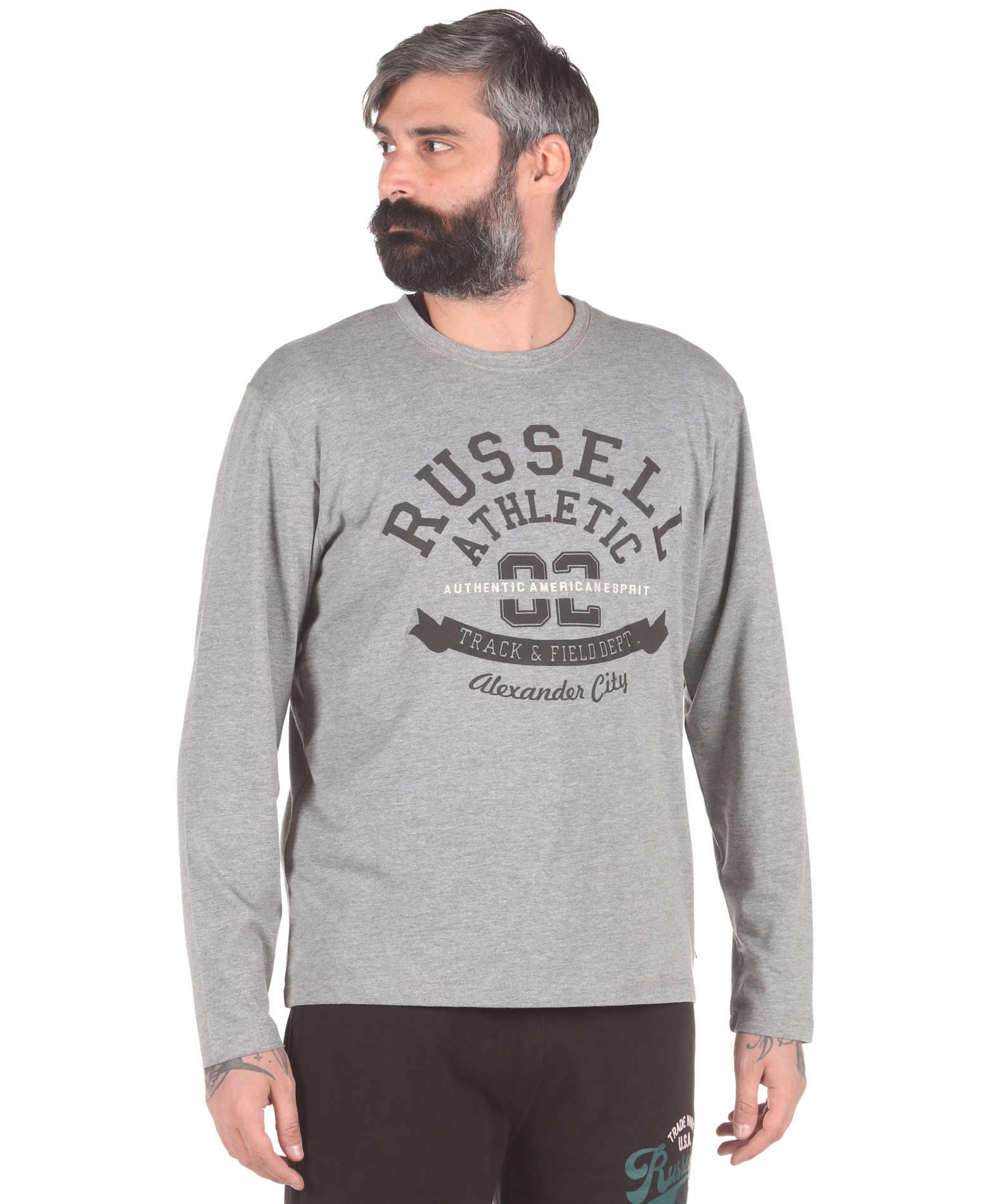 Russell Athletic AMERICAN ESPRIT – L/S CREWNECK TEE A0-020-2-090 Γκρί