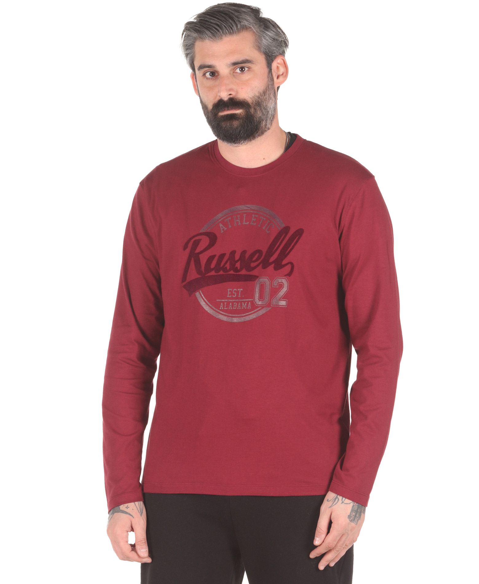 Russell Athletic COLLEGIATE – L/S CREWNECK TEE A0-030-2-469 Μπορντό