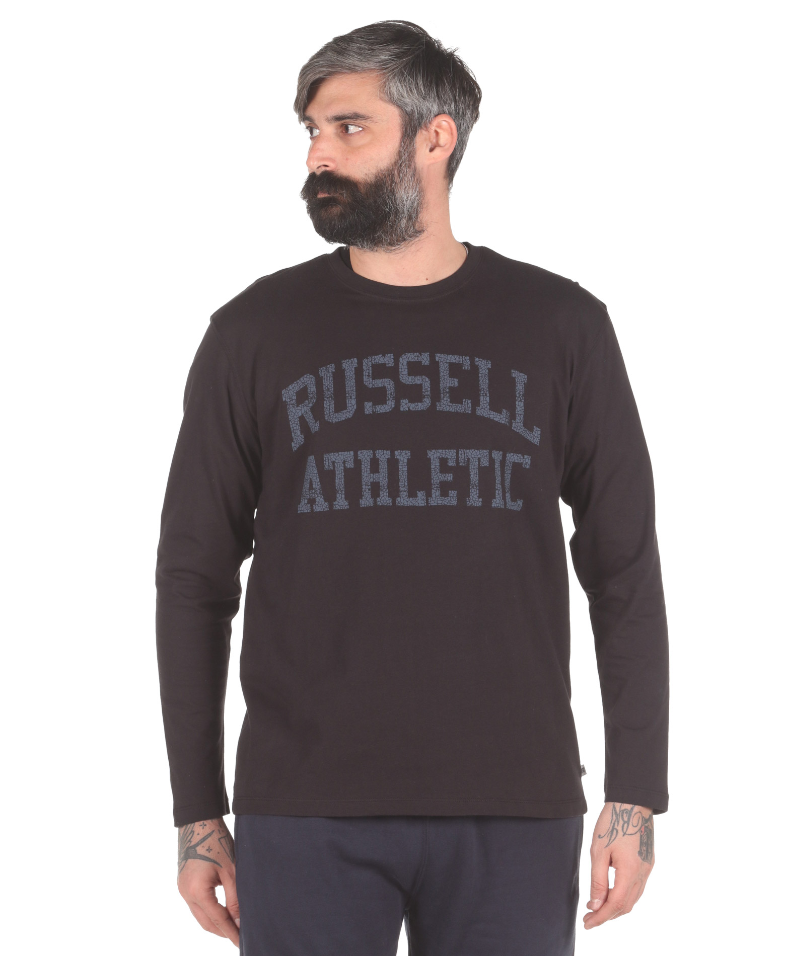Russell Athletic L/S CREWNECK TEE SHIRT A0-086-2-099 Μαύρο
