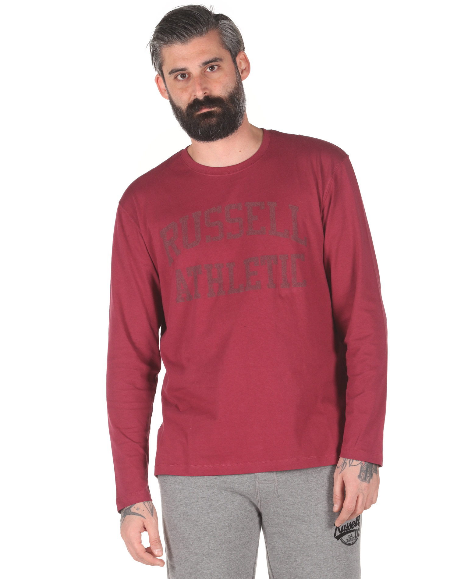 Russell Athletic L/S CREWNECK TEE SHIRT A0-086-2-469 Μπορντό